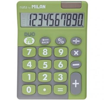 Calculadora de sobremesa con tacto de goma 10 dígitos verde