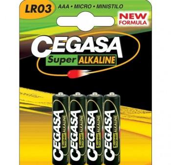 Pack 4 (AAA) Cegasa super alcalina LR03