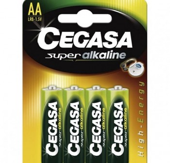 Pack 4 (AA) Cegasa super alcalina LR06