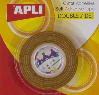 APLI Cinta adhesiva doble cara