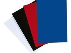 Caja 50 tapas encuadernación Ibiscolorex cartón simil piel 750gr A4 azul