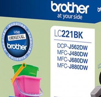 BROTHER Cartucho inkjet LC-221BK original NEGRO