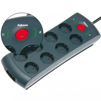 Protector 8 tomas + línea telefónica/lan/adsl 1680 julios cable 2m