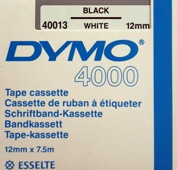 DYMO Cinta DYMO rotulacion electronica D4000 12x7, NEGRO/BLANCO