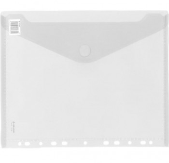 CARCHIVO Sobre con multitaladro folio transparente cierre velcro