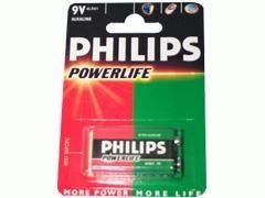 PHILIPS Pila alkalina 6f22 (cuadrada de 9v)
