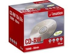 IMATION CD-RW 700Mb. 80 minutos 4x/10x