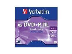 VERBATIM DVD+R DL 8,5Gb/240min. doble capa