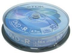 TDK DVD-R 1-16x 4,7GB pack-10