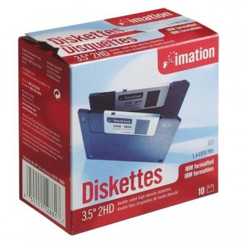 Pack 10 diskettes Imation 12768 3,5 IBM