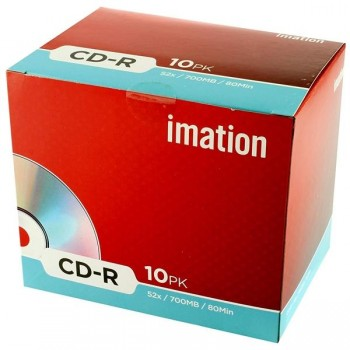 Pack 10 DVD-R Imation 4,7GB 16x caja jewel