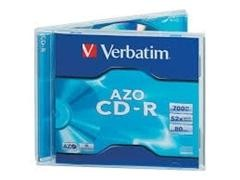 Pack 10 CD-R Verbatim 700Mb 52x Caja jewell