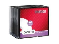 Pack 10 DVD+R Imation 4.7GB 16x caja slim