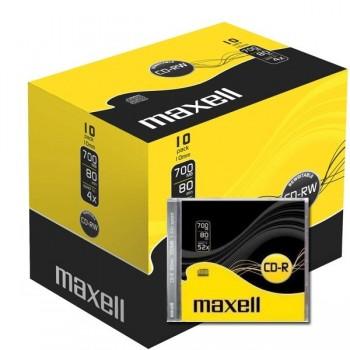 Caja Slim 10 CD -R MAXELL 700MB  52x IMPRIMIBLE Inkjet