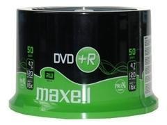 Tarrina 50 DVD+R 4,7Gb Maxell