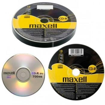 Tartera 10 CD-R Maxell 700mb