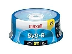 Tartera 25 DVD-R Maxell 4,7gb
