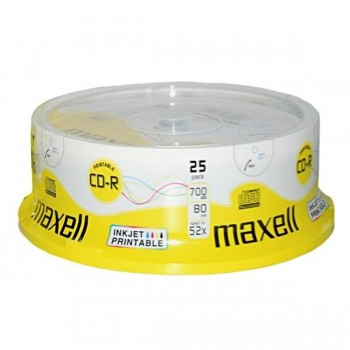 Tartera 25 CD-R Maxell 700mb