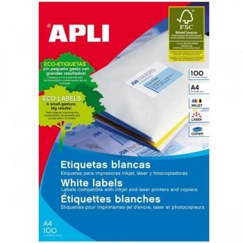APLI Etiqueta i/l/c adh.perm.c/recto a4 c-100 (105x57mm 1000unds)