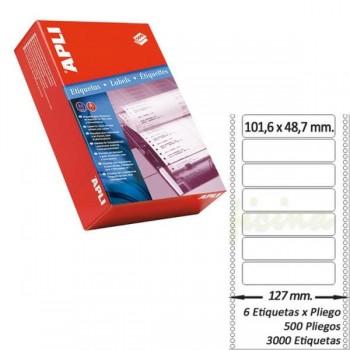 Pack 3000 etiquetas matricial 101'6x48'7mm salida 1 etiq