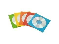 FELLOWES Funda cd pack.100udes papel colores