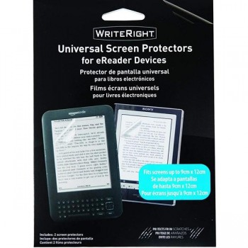 Blister 2 protectores pantalla universal libro electronico