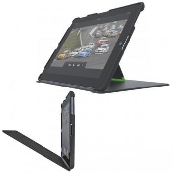 Carcasa con soporte para iPad/iPad 2 con tapa color negro