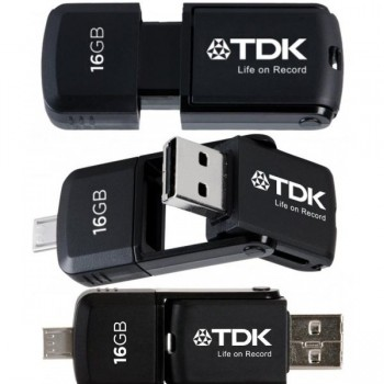 2 in 1 micro USB flash drive 16GB 2.0 para android TDK