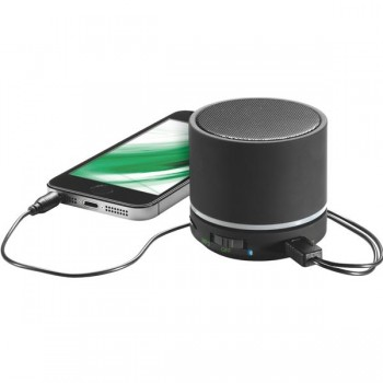 Mini altavoz portátil con conexión Bluetooth negro