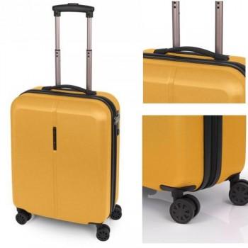 Gabol Maleta trolley rígida Paradise 39x55x20 cm. 4 ruedas apta para cabina. Mostaza