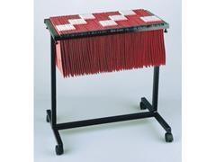 Carro carpetas colgantes extensible capacidad 100 carpetas negro