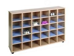 Mueble zapatero con 30 casillas 120x28x87 cm