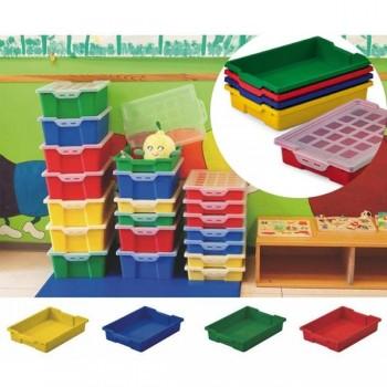 Cajón verde para muebles y almacenaje sin tapa capacidad 14l 42x31x14,8 cm