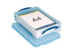 Caja almacenaje Really Useful boxes 4 l 348x220x68 mm color cristal transparente