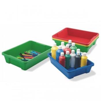 Cajón rojo para muebles y almacenaje adaptable al mueble ministerio, capacidad 6l 37,5x26,5x9 cm