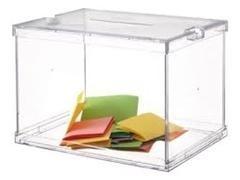 ARCHIVO2000 Urna electoral 310x440x310 transparente con dos precintos