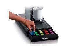 Cajón para guardar 45-50 cápsulas de café en poliestireno color negro