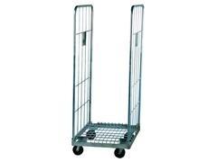 Carro para supermercados y almacenes de gran capacidad carga 600kg 80X70X160cm peso 24kg