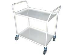 Mesa trabajo 2 baldas reborde blanco metálico carga 250kg 74x48x83cm peso 16kg
