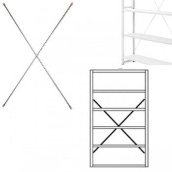 Cruceta para estanterías gris claro RAL 7035 183,2x100cm