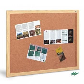 Tablero anuncios corcho Faibo marco de fibra melaminada 100x200 cm