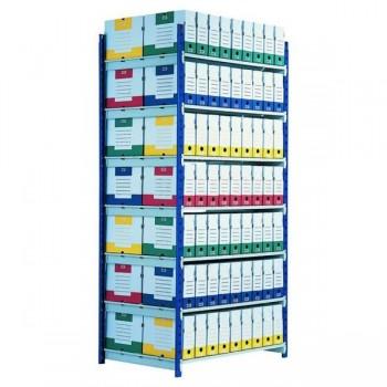 Estantería Rango Plus módulo adicional de 7 estantes 2000x1000 mm profundidad 700 mm