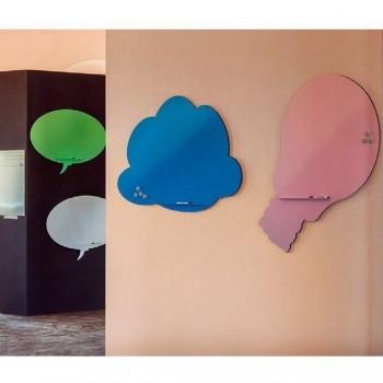 Pizarra Skin Shape Idea superficie lacada 75x115cm color azul