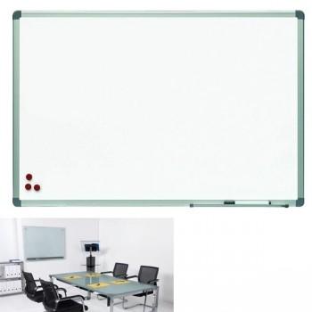 Pizarra blanca superficie lacada magnética. Marco de aluminio 120x150cm