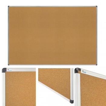 Tablero superficie de corcho. Marco de aluminio 45x60cm