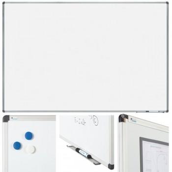 Pizarra blanca con acero vitrificado 120x150cm