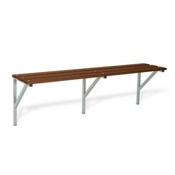Taquigrup Banco simple de madera con estructura de acero pintado 100x47x37 cm