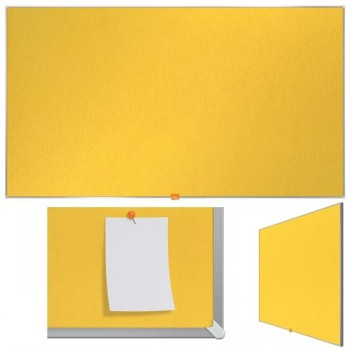 Nobo Tablero Nobo panorámico de fieltro 55\c (1230X700 mm) amarillo brillante