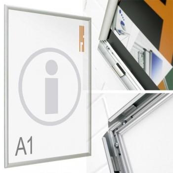 Planning Sisplamo Portapóster marco abatible inglete Mural DIN A4 23 x 32 cm.