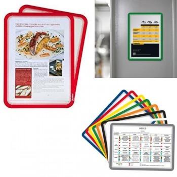 Tarifold Pack 2 marcos de presentación dorso imantado A4 rojo